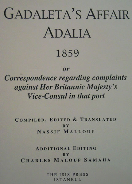 GADALETA?S AFFAİR ADALIA 1859