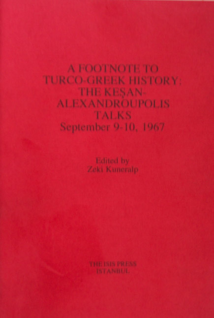 A FOOTNOTE TO TURCO-GREEK HISTORY:THE KE?AN-